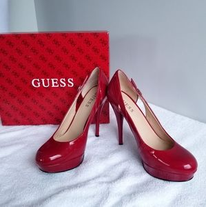 Guess red stilettos